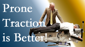 Minster spinal traction applied lying face down – prone – is best according to the latest research. Visit Minster Chiropractic Center.