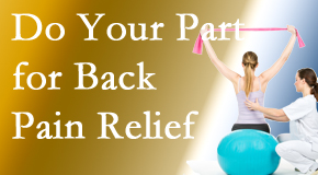 Minster Chiropractic Center calls on back pain sufferers to participate in their own back pain relief recovery.