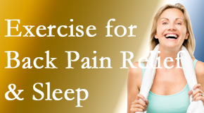 Minster Chiropractic Center shares new research about the benefit of exercise for back pain relief and sleep.