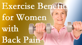 Minster Chiropractic Center shares new research about how beneficial exercise is, especially for older women with back pain.