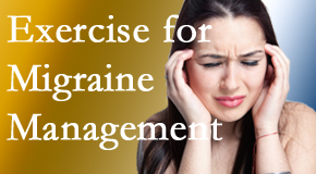 Minster Chiropractic Center incorporates exercise into the chiropractic treatment plan for migraine relief.