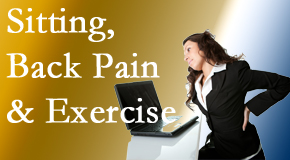 Minster Chiropractic Center urges less sitting and more exercising to combat back pain and other pain issues.
