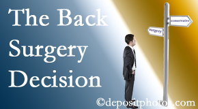 Minster back surgery for a disc herniation is an option to be carefully studied before a decision is made to proceed.