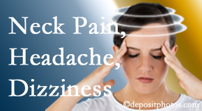 Minster Chiropractic Center helps relieve neck pain and dizziness and related neck muscle issues.