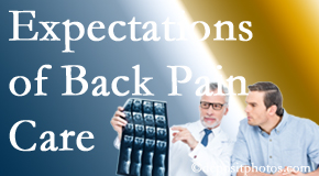 The pain relief expectations of Minster back pain patients influence their satisfaction with chiropractic care. What is realistic?