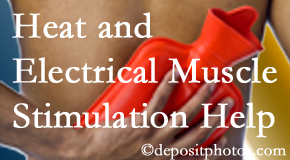 Minster Chiropractic Center utilizes heat and electrical stimulation for Minster pain relief.