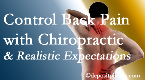 Minster Chiropractic Center helps patients set realistic goals and find some control of their back pain and neck pain so it doesn't necessarily control them.