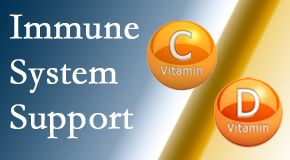 Minster Chiropractic Center presents details about the benefits of vitamins C and D for the immune system to fight infection.