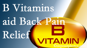 Minster Chiropractic Center may include B vitamins in the Minster chiropractic treatment plan of back pain sufferers.