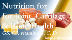 Minster Chiropractic Center describes the benefits of vitamins A, C, and D as well as glucosamine and chondroitin sulfate for cartilage, joint and bone health.
