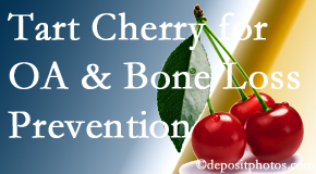 Minster Chiropractic Center shares that tart cherries may improve bone health and prevent osteoarthritis.
