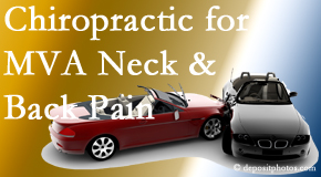 Minster Chiropractic Center offers gentle relieving Cox Technic to help heal neck pain after an MVA car accident.