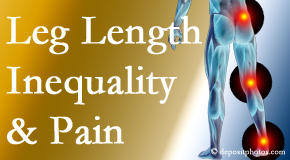 Minster Chiropractic Center tests for leg length inequality as it is related to back, hip and knee pain issues.