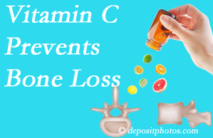 Minster Chiropractic Center may recommend vitamin C to patients at risk of bone loss as it helps prevent bone loss.