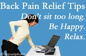 Minster Chiropractic Center reminds you to not sit too long to keep back pain at bay!