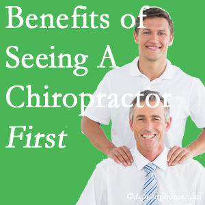 Getting Minster chiropractic care at Minster Chiropractic Center first may reduce the odds of back surgery need and depression.