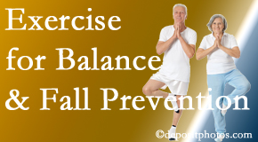 Minster chiropractic care of balance for fall prevention involves stabilizing and proprioceptive exercise.