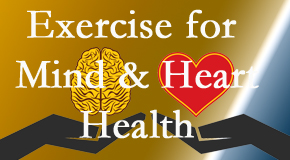 A healthy heart helps maintain a healthy mind, so Minster Chiropractic Center encourages exercise.