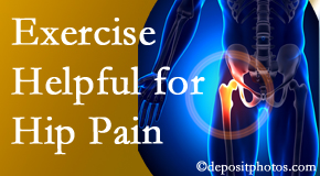 Minster Chiropractic Center may suggest exercise for hip pain relief along with other chiropractic care options.