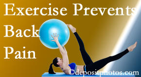 Minster Chiropractic Center encourages Minster back pain prevention with exercise.