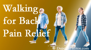 Minster Chiropractic Center often recommends walking for Minster back pain sufferers.