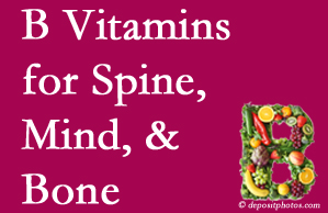 Minster bone, spine and mind benefit from B vitamin intake and exercise.