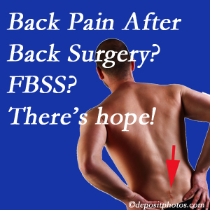 Minster chiropractic care offers a treatment plan for relieving post-back surgery continued pain (FBSS or failed back surgery syndrome).