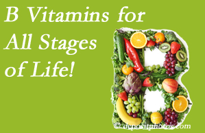 Minster Chiropractic Center suggests a check of your B vitamin status for overall health throughout life.