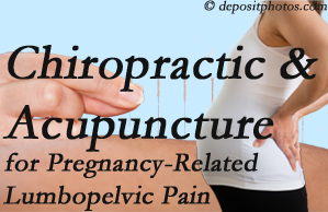 Minster chiropractic and acupuncture may help pregnancy-related back pain and lumbopelvic pain.