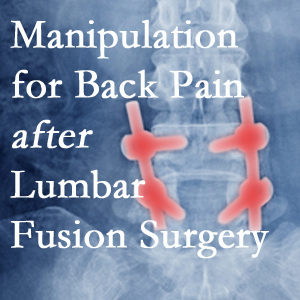 Minster chiropractic spinal manipulation helps post-surgical continued back pain patients discover relief of their pain despite fusion.