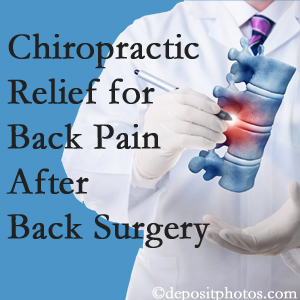 Minster Chiropractic Center offers back pain relief to patients who have already undergone back surgery and still have pain.
