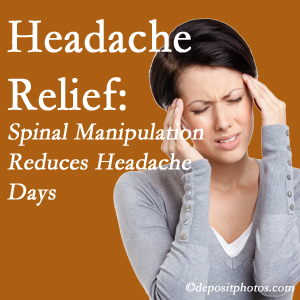 Minster chiropractic care at Minster Chiropractic Center may reduce headache days each month.