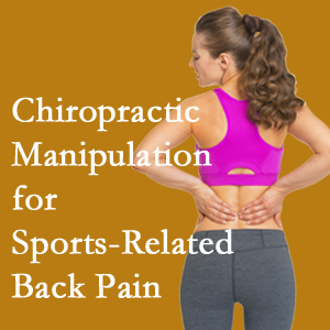 Minster chiropractic manipulation care for everyday sports injuries are recommended by members of the American Medical Society for Sports Medicine.