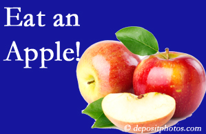 Minster chiropractic care recommends healthy diets full of fruits and veggies, so enjoy an apple the apple season!